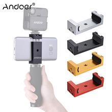Andoer telefone tripé suporte adaptador de montagem clipe com sapato frio para o iphone x 8 7 6s 6 5 plus para samsung sony smartphone