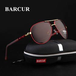 BARCUR Алюминий магния Для мужчин солнцезащитные очки Для мужчин поляризационные очки с зеркальным покрытием для глаз мужские очки