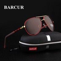 BARCUR 2017 Aluminum Magnesium Men S Sunglasses Polarized Men Coating Mirror Glasses Oculos Male Eyewear Accessories
