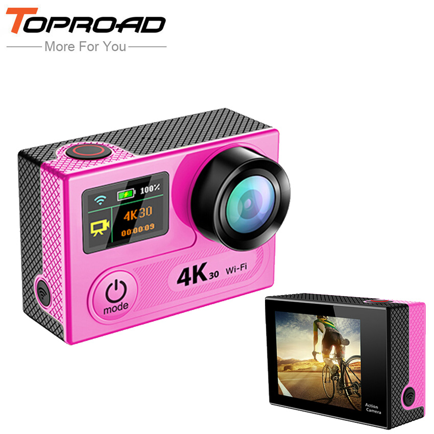 Ultra HD 4K H8 WIFI Action Cameras 360VP Full 1080P 60FPS Mini Sports DVR Video Camcorders 170 Lens 2inch LCD Camera Helmet Cam