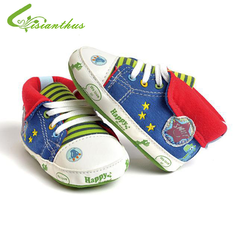 Comfortable Baby Boys Girls Canvas Toddler Sneaker Anti-slip First Walkers Shoes 0-18 Months Dinosaur