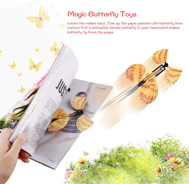 5 Pcs Magic Flying Butterfly Little Magic Tricks Funny Surprise Joke Toys For Children Surprising Magic Butterfly