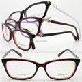 Atacado 6620 full-aro de acetato cateye flexi dobradiça níquel coper templo da moda armações de óculos ópticos frete grátis