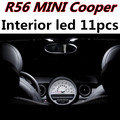 Chita 11 pcs X frete grátis Livre de Erros LEVOU Luz Interior Pacote Kit para MINI Cooper JCW r56 s acessórios 2008 +