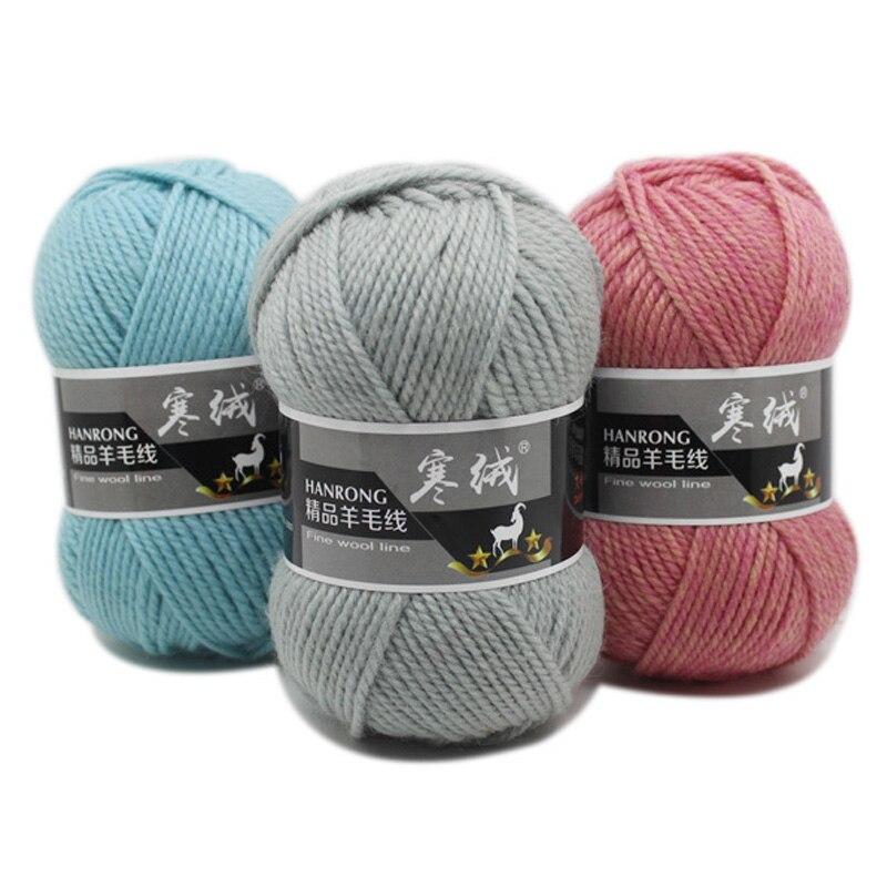 Wholesale 100gball Diy Soft Thick Wool Yarn Woolen Crochet Yarn