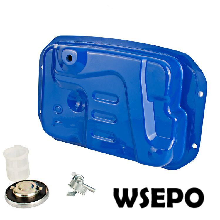 Top Quality! Fuel Tank Assy with Cap and Petcok for MZ175/166F 04 Stroke Air Cooled Small Gasoline Engine