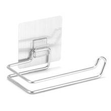 Туалетные кухонные бумажное полотенце держатель из нержавеющей стали многократные моющиеся приклеиваемые крючки стойка для ванной комнаты Аксессуары