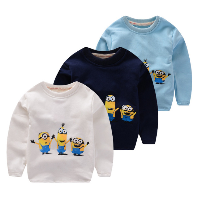 New style Long Sleeve T-shirts for Boys and Girls Cartoon Baby Despicable me Casual Children's Autumn Sweatershirt