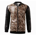 2017 New Mens Autumn Winter Casual Hooded High Neck Long Sleeves Front Zipper Leopard Coats Fashion Stylish Faux Leather Jacket