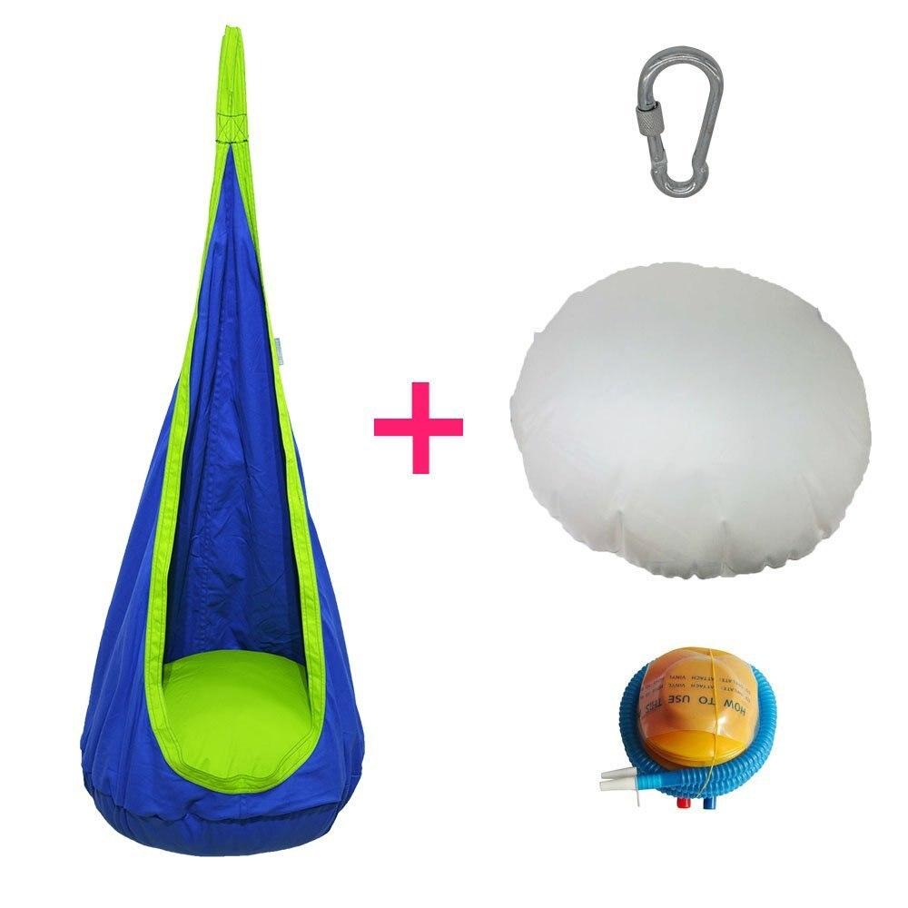 Indoor swings for kids - 2016 Outdoor Indoor Inflatable Hanging Hammock Swing Chair For Children Kids Baby Pod Swing Seat Chair