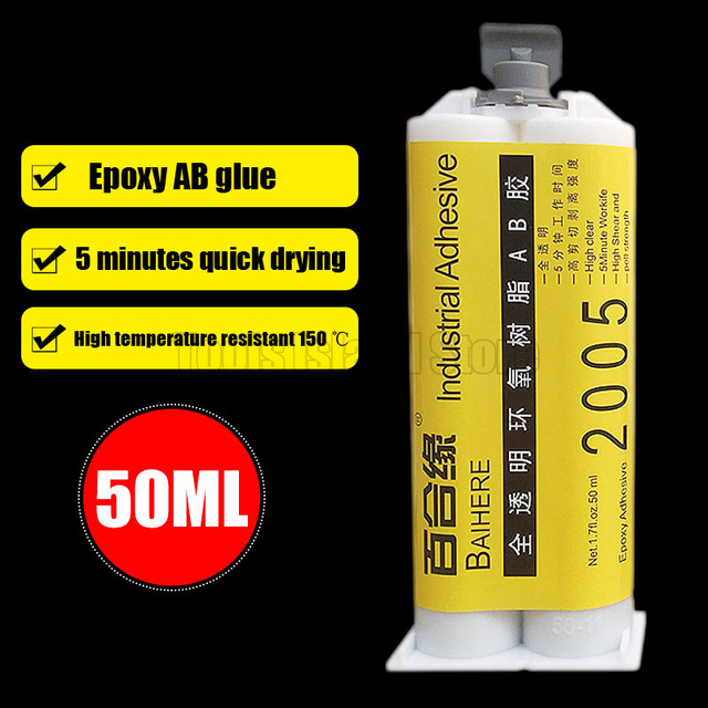 US $6 37 17% OFF|high viscous 5 seconds quick to dry metal machine glass  fiber ceramic hard plastic epoxy resin adhesive super AB glue-in Epoxies  from