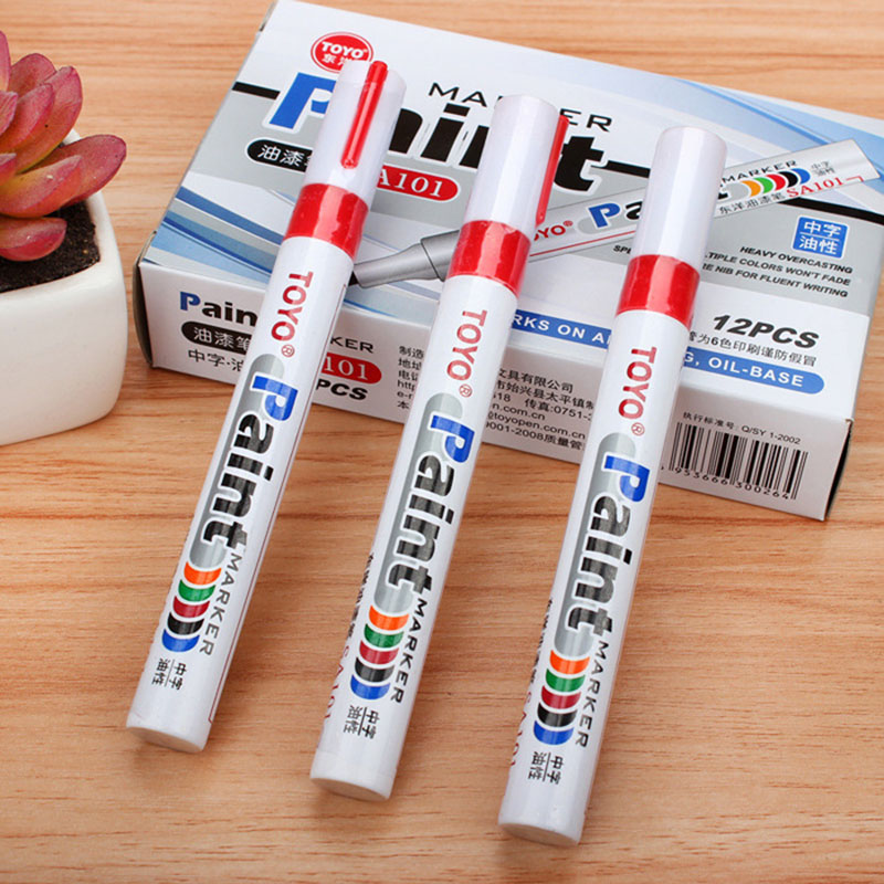 1 PC Oily Car Tyre Tire Tread Marker Pen Waterproof Permanent Color Match Paint Pen White Marker Pen Paint Pen