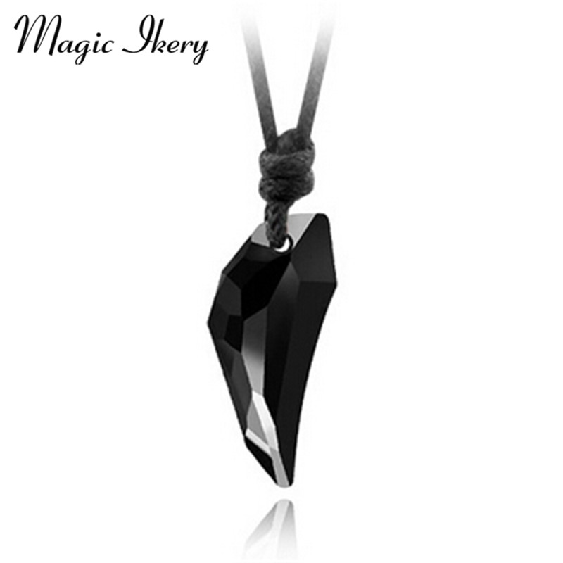 Crystal Casual Sporty teen wolf Pendant Necklaces Fashion Rope Chain Men Women Couple Jewelry MKL4401
