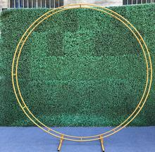 New wedding props ring double-pole arch frame, flower circular arc gate