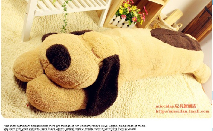 stuffed animal lovely prone dog  brown plush toy about 120 cm dog  throw pillow soft sleeping pillow doll t7891 lovely plush toy stuffed dog pillow