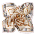 [LESIDA] High Quality Women Scarf Bandana Silk Summer Scarf Square Foulard Women Plaid Hijab XF1052