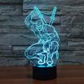 Lámpara LED Juguetes moda Ilusión 3D Marvel Anti-héroe Deadpool Figura Acrílico Luz de Noche Que Cambia de Color de La Novedad Luz Táctil interruptor
