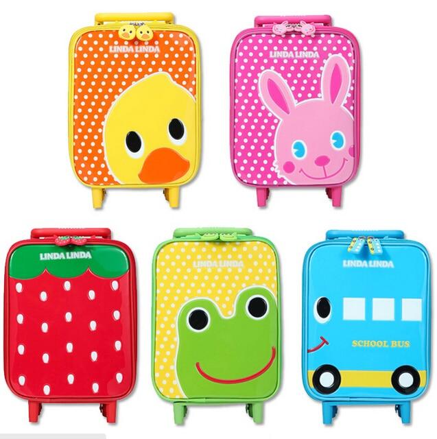 Classic Super Cute Animal Design Children's Travel Suitcase Travel Student Trolley Case Kid Travel Bag