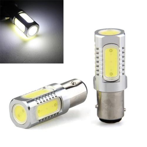 10x)  2* Bombilla Lmfor 1157 LED 5 COB Luz Blanco 7.5W for Coche