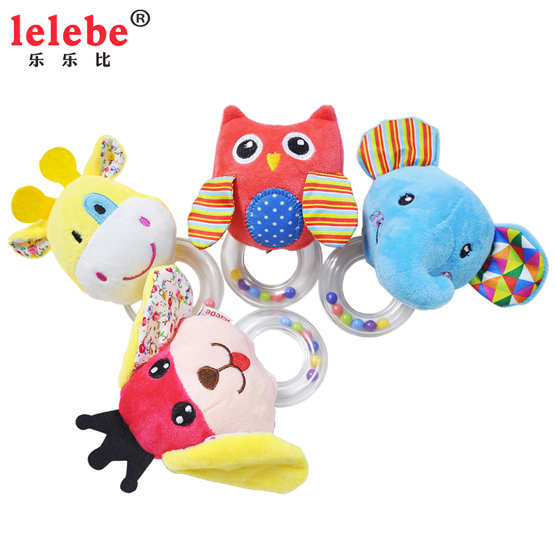Lelebe 2019 Baby Hand Bell Fluffy Baby Bell  Soft Custom Stuffed Toys Hand Bell Animal Baby Toys With  Kids Toys