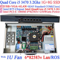 6 * 1000 м 82583 В процессор Intel i5 3470 3.2 ГГц брандмауэр маршрутизатор с 1 г оперативной памяти 8 г SSD