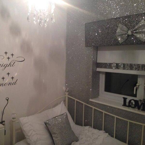 Buy 22 meter width is 54 55 39 39 glitter for Silver bedroom wall art