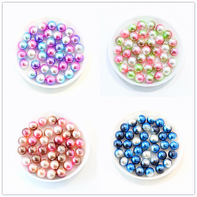 3, 4, 6, 8, 10, 12 мм, без отверстия, бусины из разноцветных бусин, имитация жемчуга, бусины для изготовления ювелирных изделий