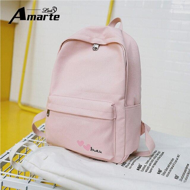 9b7590b1ca Amarte Women School Backpacks For Teenage Boys and Girls Preppy Style Men s Backpacks  Fashion Female Schoolbag