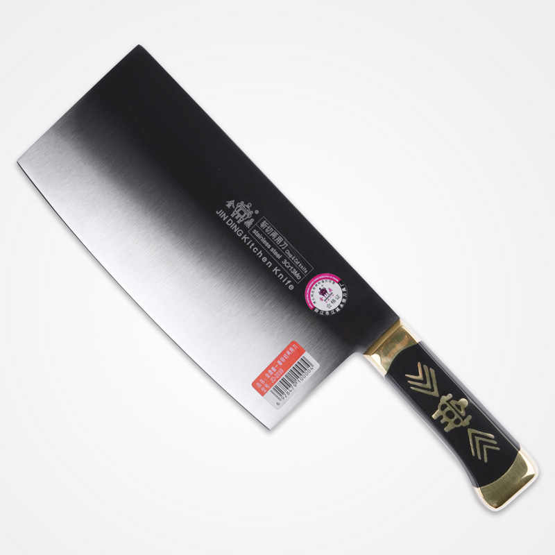 Free Shipping JIN DING Stainless Steel Kitchen Chop Bone Cut Meat Dual-purpose Knife Chef Cleaver Knife Multifunctional Knives