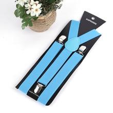 BISI GORO 2019 New elastic suspender 3 holder solid for pants Skirt trouser suspenders 18 color women men light vintage braces
