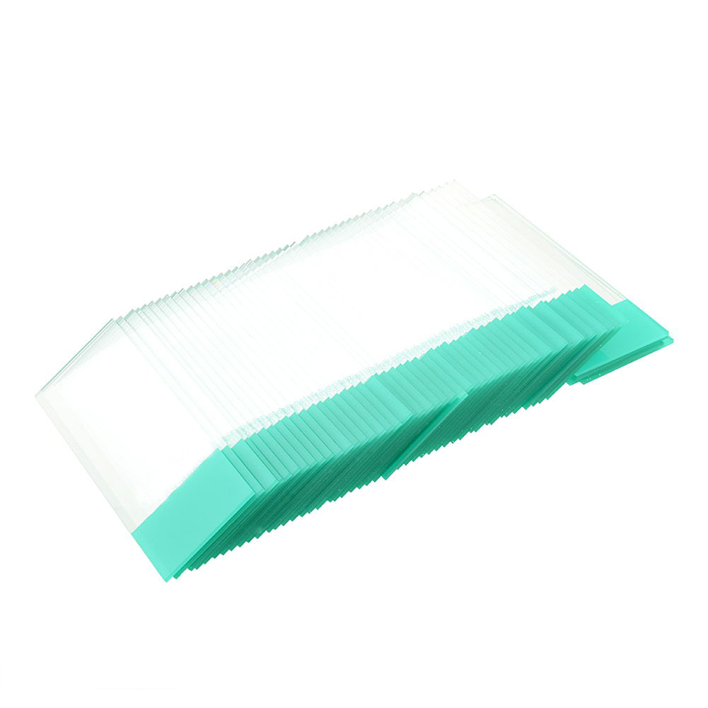 Professional Real 50PCS Blank Microscope Slides Accessories Glass 1-1.2mm Ground Edges Lab Preparation
