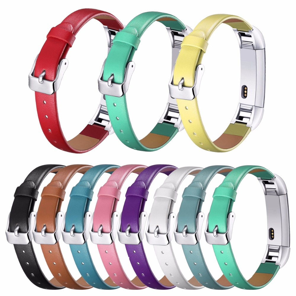 Fitbit Alta Bands,Luxury Genuine Leather Band Replacement Strap Bracelet for Fitbit Alta Tracker High Quality bracelet strap
