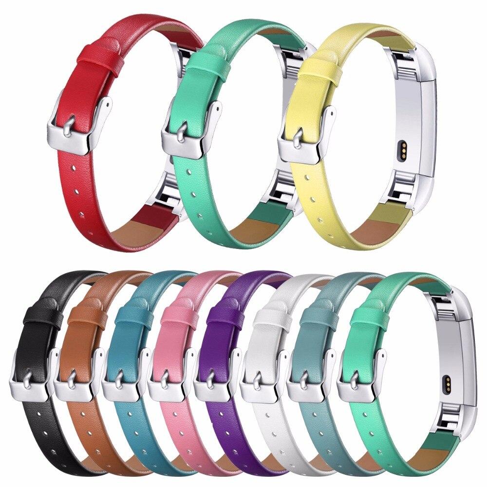 Para bandas Fitbit Alta, lujosa pulsera de cuero auténtico de repuesto para Fitbit Alta Tracker pulsera de Alta calidad
