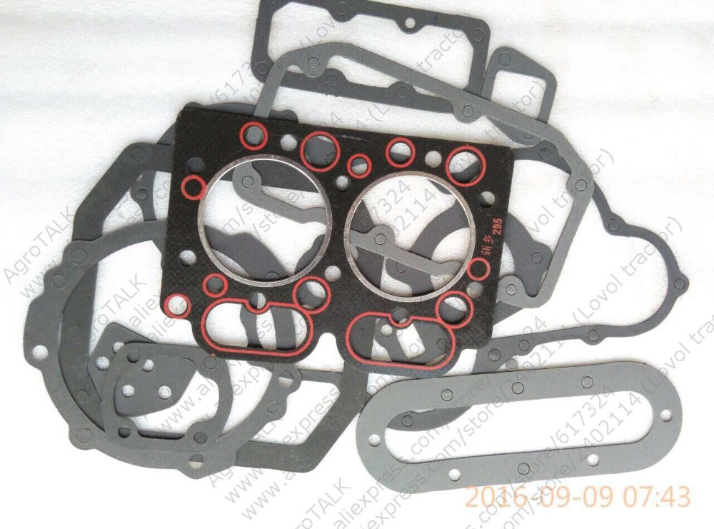 Xinxiang TY295X for tractor like JM254 Weituo TY254 series, the set of gasket including the head gasket changchai zn485t for tractor use the set of gaskets including the head gasket as showed
