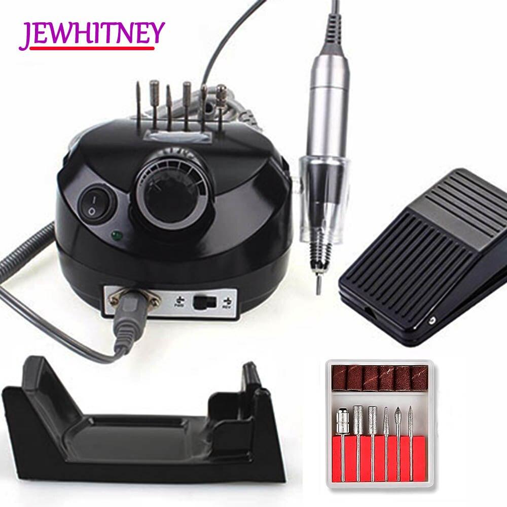 Pro 30000 RPM máquina de perforación eléctrica de uñas máquina de manicura eléctrica Drill accesorio pedicura Kit taladro de uñas broca de Lima herramientas de uñas