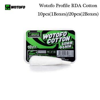 10pcs-50Pcs Original Wotofo Xfiber Cotton for Profile Cotton dry burning vaping mesh coil For Profile mesh RDA Vape vaper Tank artificial nails