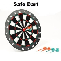 safe dart board 6plastic dart set 41.5cm diameter family party board game rubber darts head