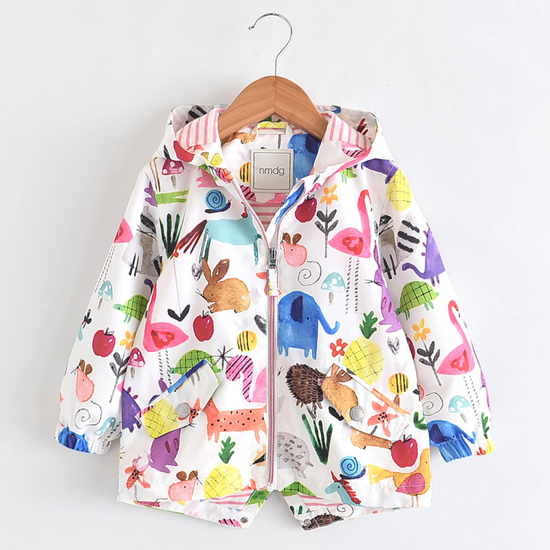 686adde2e Fashion Girls Coat Spring Jackets And Coats For Kids Windbreaker Cartoon  Animal Autumn Jackets For Girl