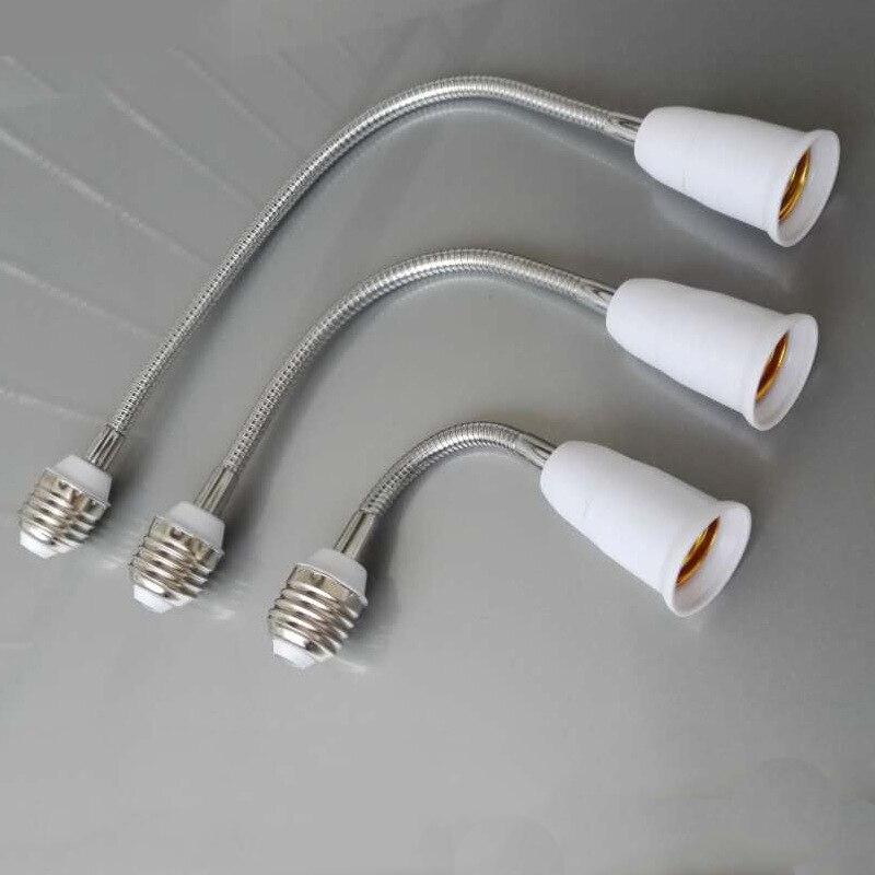 E14 To E27 Flexible Extend Extension Adapter Socket 18/28/38/48/58cm LED Light Bulb Lamp Base Holder Converter