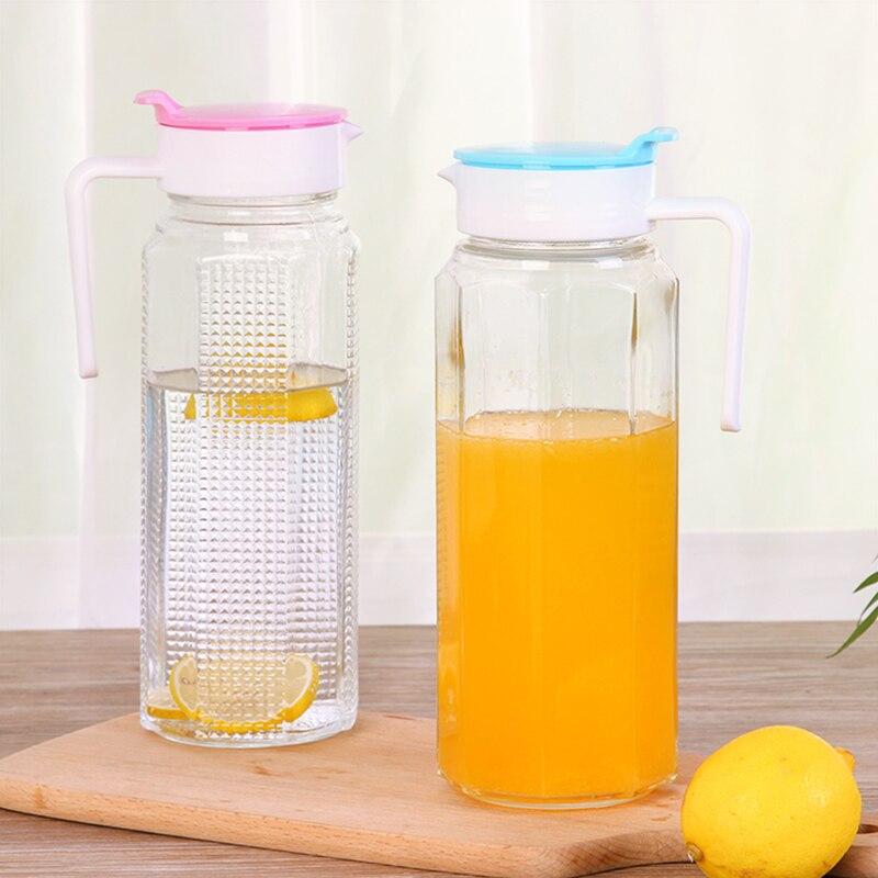 Большая емкость холодной бутылка для воды ледяная вода горячая вода стекла pots высокой температуры воды дома ковш горшок чайник заварочный ...
