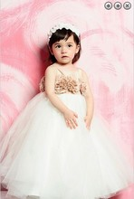 free shipping new 2014 Wedding Party Dresses Girls Pageant Gowns Princess dresses white long ball Flower Girl