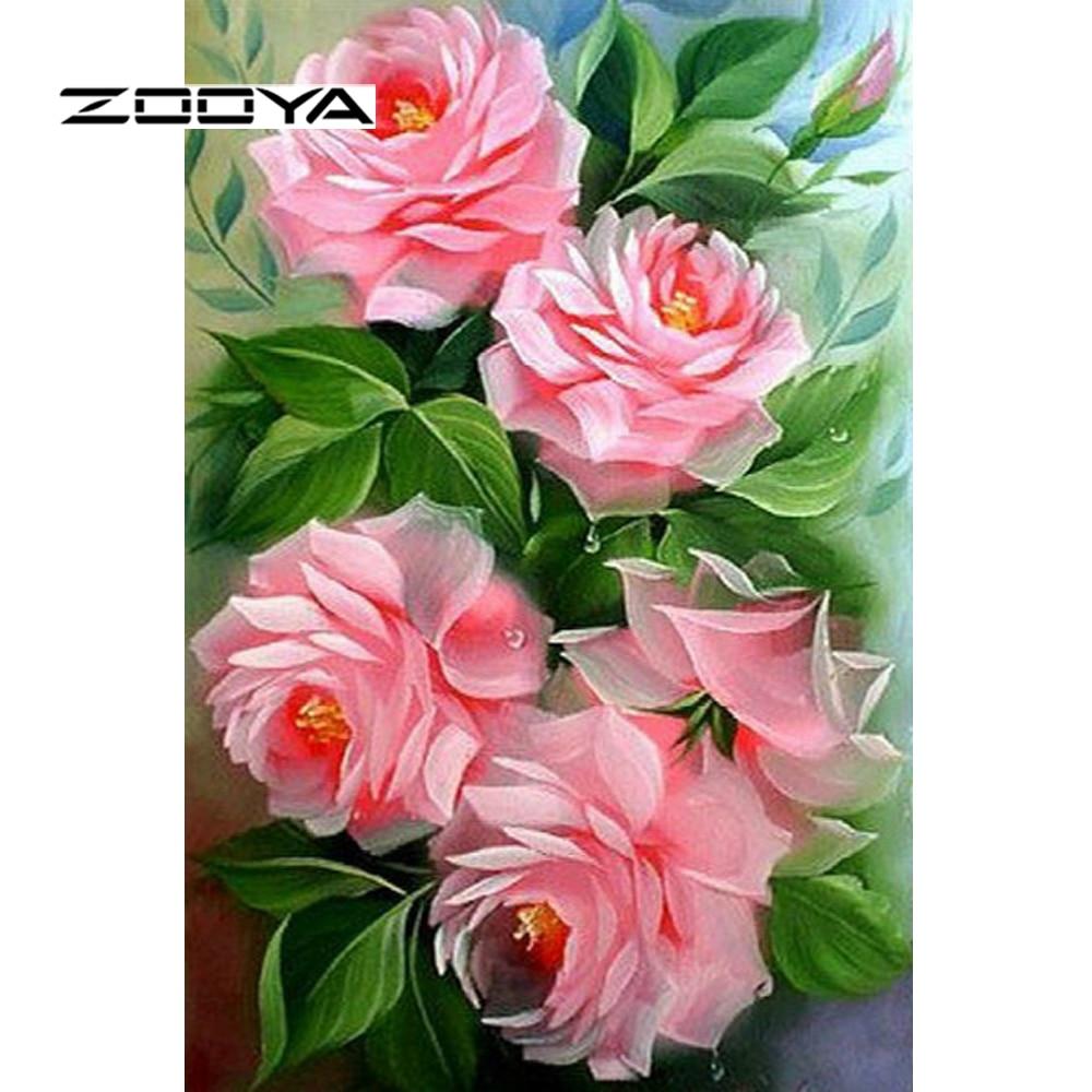 Zooya Diamond Painting Kit Beauty Full Diamond Embroidery Flowers