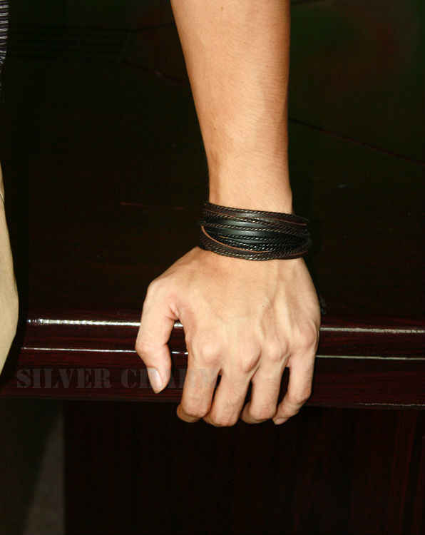Gorące skórzane bransoletki i bransolety dla mężczyzn i kobiet czarny i brązowy pleciony sznur mody mężczyzna biżuteria 2 sztuk PI0246