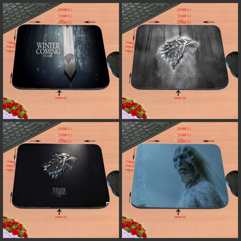 2017 Winter is coming got Design Anti-slip Durable New Arrival Customized Rectangular Mouse Pad Computer PC Nice Gaming As Gift