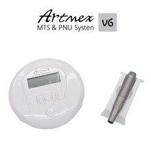 Купить с кэшбэком Hhigh quality Permanent Makeup machine digital Artmex V6 Tattoo Machine set Eye Brow Lip Rotary Pen V6 MTS PMU System tattoo gun