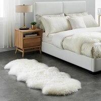 Genuine Sheepskin Pelt Handmade Beige White Premium Shag Rug ,4 colors shaggy sheep skin fur carpet for home decoration