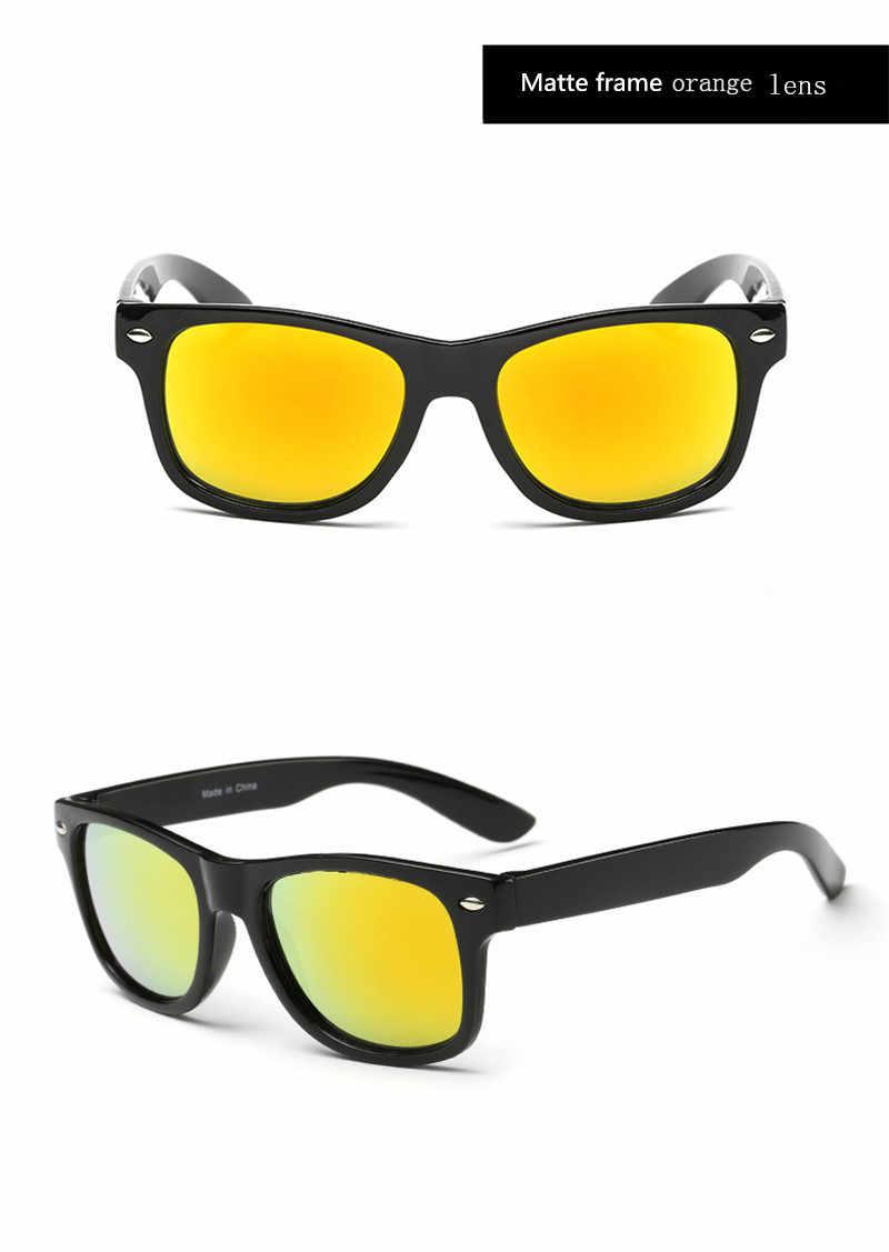 Legal 6-15 Anos Crianças Óculos De Sol Óculos de Sol para Crianças Meninos Meninas Moda Eyewares Revestimento de Lente de Proteção UV 400 com Caso