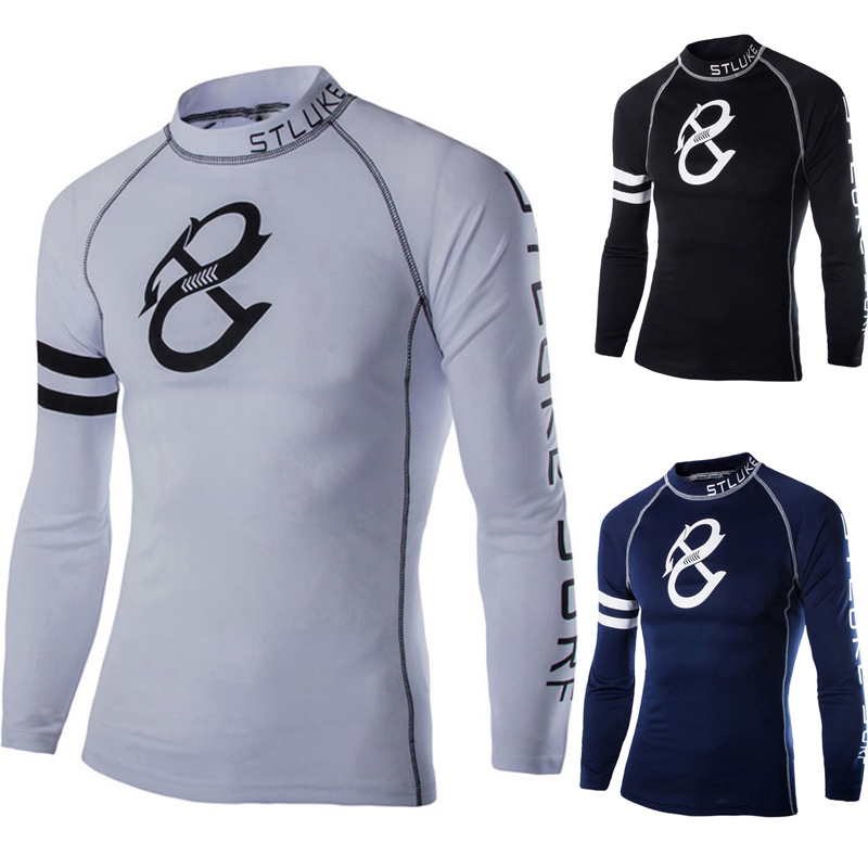 2015 3 color Print Cycle Compression Base Layers Mens T Shirts Long sleeve Fit Skins Gear Thermal Tops Tee