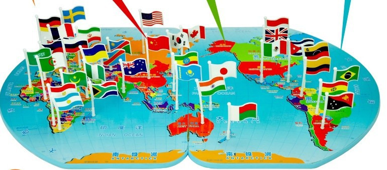 Plastic fight inserted cognitive woodengeography world map flags plastic fight inserted cognitive woodengeography world map flags inserted flag baby educational toys for children in puzzles from toys hobbies on gumiabroncs Images