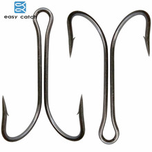Easy Catch 100pcs 9908 Double Fishing Hooks Small Fly Tying Double Fishing Hook For Jig Size 1 2 4 6 8 1/0 2/0 3/0 4/0(China)